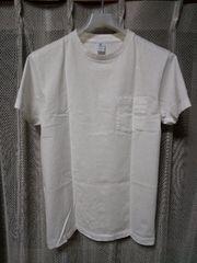Velva Sheen ベルバシーン 無地 ポケット 半角Tシャツ Sサイズ 白 アメリカ製