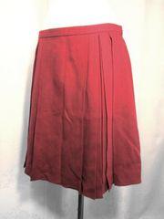 【UNTITLED】【未使用品】ワインレッドのプリーツスカート