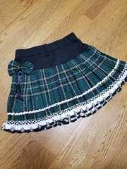 グリーン チェック スカート 制服風