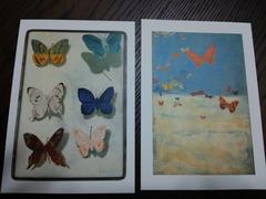 三岸好太郎★飛ぶ蝶★生誕100年記念★ポストカード2枚★催眠
