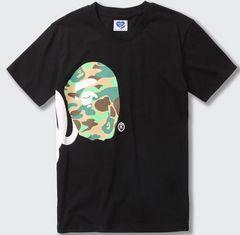 ape 半袖Tシャツ 黒 XXL エイプ  a bathing ape side