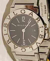 良品ブルガリブルガリレディース時計BB26SS定価43万ブレス電池新