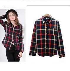 323-905973大きいサイズ☆チェックシャツ☆5L