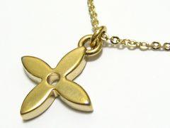 ルイ.ヴィトン.シンボル十字架クロスロゴゴールドカラーの高貴で洒落た最高のネックレス