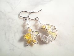 Pave*月と星のピアス*silver