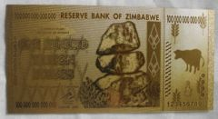 純金のジンバブエ 100兆ドル札 24金箔 金運UP 幸運 インフレ