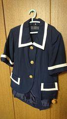スーツ★紺★キュロットスカート★13号位