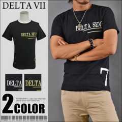 メール便送料無料【DELTA】Tシャツ70643新品黒銀XL