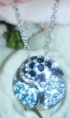 ☆Pt900☆3色ダイヤモンド0.36ctパヴェネックレス