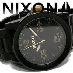 良品 1スタ★NIXON ニクソン【ALL BLACK】メンズ腕時計