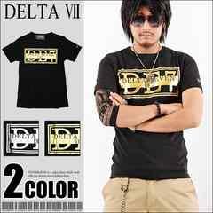 メール便送料無料【DELTA】Tシャツ70630新品黒金XL