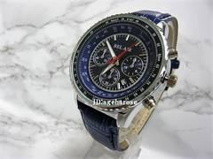 新品★腕時計 シルバーブルークロコ型押/ブライトリング好きに