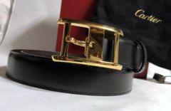 正規美 Cartierカルティエ アルディロン タンクバックルベルト黒×茶 85調節可 付属