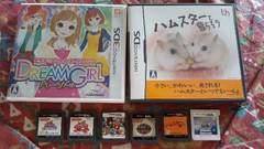 DS.3DSソフト6種纏め売り/ハムスター/しゅごキャラ/ドリームガール等/女の子向け