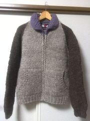 ◆◆アダムエロペ◆INDIAN SWEATERカナダ製カウチンジャケットセーター◆◆