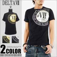 メール便送料無料【DELTA】Tシャツ70676新品黒銀L