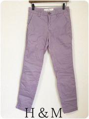 ((( H&M )))ストレートパンツ purple/34