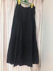 スタジオクリップマキシスカート。未使用黒