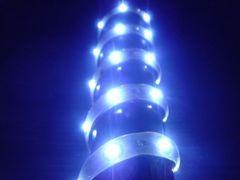 超発光/薄型/防水 LEDテープ 90�p ホワイト/白