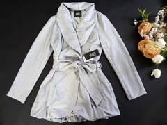 新品 love junkie 裾バルーン コート グレー