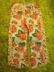 ●BOO HOMES● 薔薇柄パンツ 100
