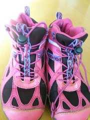 キッズ 子供 22�p スノトレ 防寒靴 女の子 ピンク   冬靴