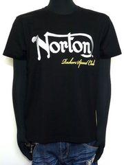 新品正規Norton杢調刺繍ロゴTシャツLアメカジバイカー