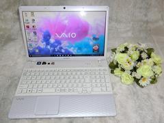 白く可愛VAIO AMDデュアルCPU/750G/6G/Win10/ブルーレイ/地デジ_e41