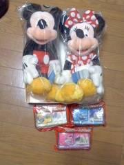 ディズニー☆ミッキー&ミニー☆ぬいぐるみ&フォトフレームクロック(全3種)
