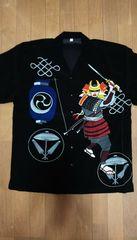 セール 新品[ブランド不明]鎧武者プリント 半袖 アロハシャツ スカジャン好きにも