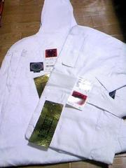 送料込☆カセヤマ【麻の葉】白、手甲シャツ4L、3超95