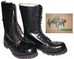 ゲッタグリップおでこ靴14ホール ブーツ新品7514BLスチール入uk9