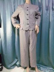 グレー系パンツスーツ11AR67美品