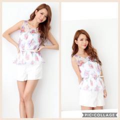 新品タグ付riendaリエンダ7290円ハイウエストイショートパンツショーパン白ホワイトスカート