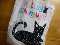 フライングタイガー新宿エコバッグ限定コットン新品ネコ猫
