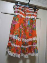 M ★スカート兼チュニックワンピース ブラウス リゾート花柄