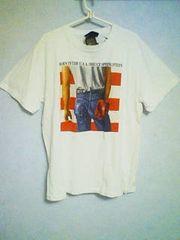 Tー14★新品★半袖アメカジフォトプリントTシャツ ホワイト L