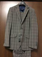 新品 定価3.1万☆ チェック柄スーツ Y6サイズ グレー TETE HOMME