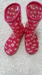 長靴 19cm ハート ピンク 未使用品