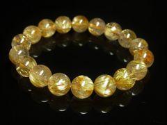 運気上昇パワーストーン タイチンルチルブレスレット 10ミリ天然石数珠
