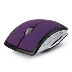 ☆折り畳み式 2.4GHzワイヤレス 光学式USBマウス 紫