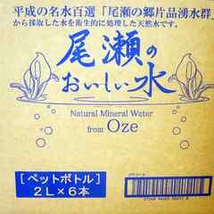 尾瀬のおいしい水 ペットボトル2L×6本 箱売
