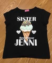 ジェニィ ソフトクリームTシャツ 120 黒