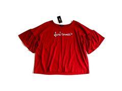 新品 しまむら フレア袖 Tシャツ 大きいサイズ 4L ボルドー 17号