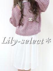 new://1点のみ☆pink*上質ケーブルニット×ワンピース2set 0243