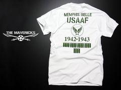 爆弾エアフォースTシャツ・白カーキーS・新品/米軍ミリタリー系