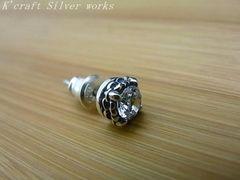 Silver925○デザインピアス○スタッド/ジルコニア(E-1317)