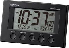 リズム時計 電波 デジタル フィットウェーブスマート 黒