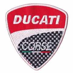 ドゥカティ(Ducati)■ワッペン■赤白黒チェック-dct001