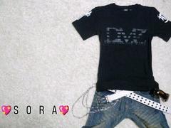 【DMZ】オラオラ.悪羅悪羅♪ブランド.クロスロゴプリントTシャツ